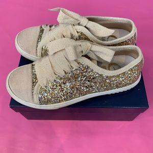 Gallucci Gold Glitter Girls Sneakers 32 (13.5)